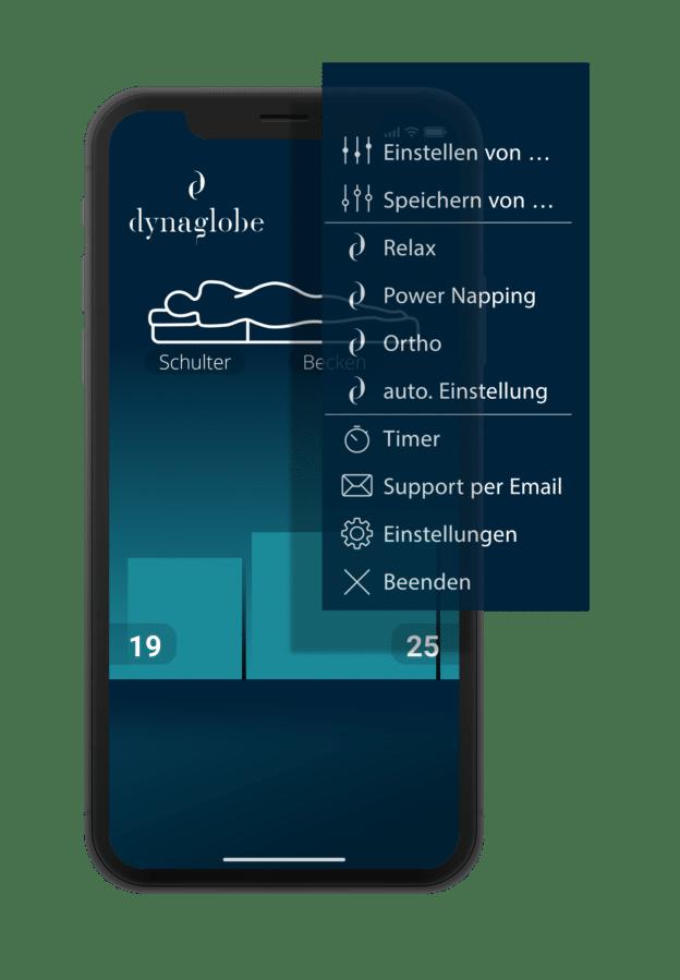 App-Steuerung der luftfeder-matratzen